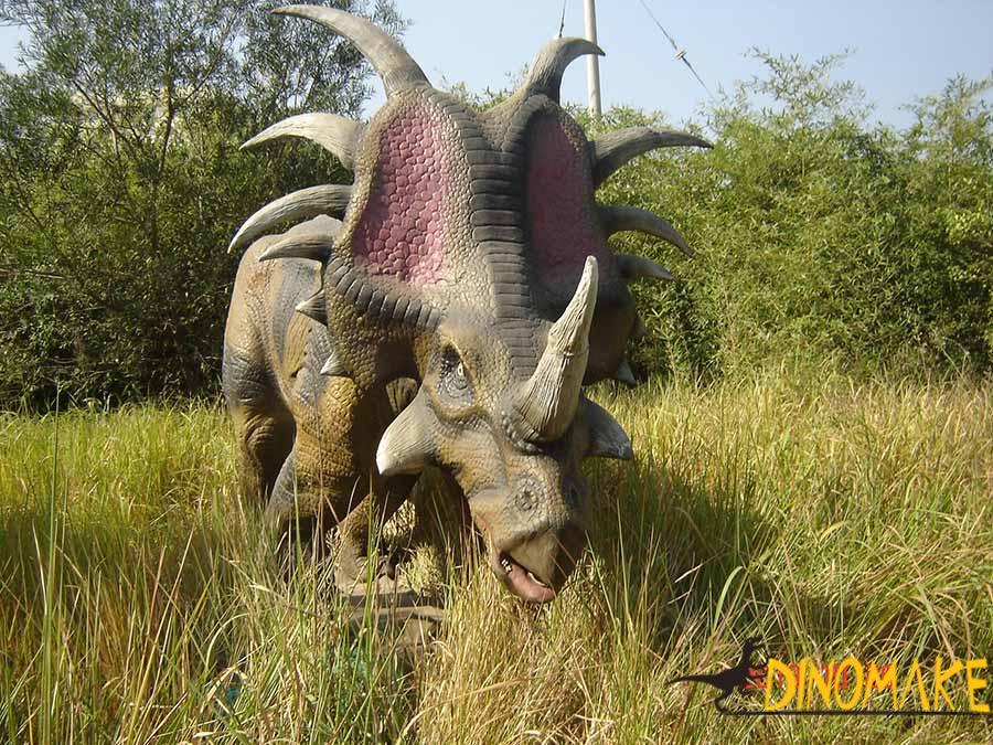Styracosaurus animatronic