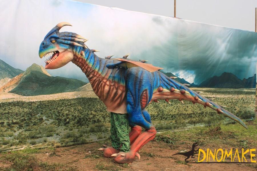 Walking Dinosaur costume parade in group