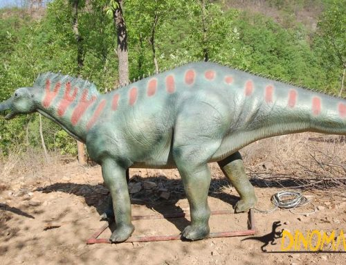 Animated dinosaur decoration for children's entertainment theme