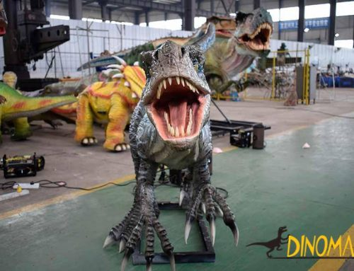 Is the animatronic dinosaur safe? Do visitors leak electricity when they touch it?