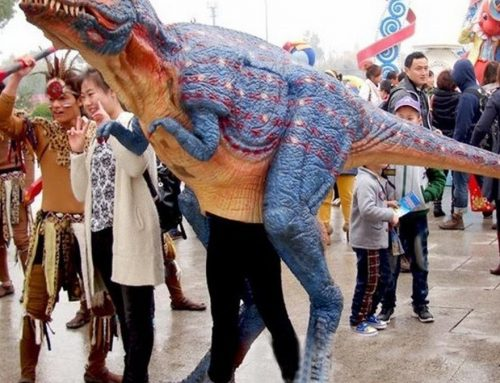 Walking dinosaur costume T-rex for Jurassic park