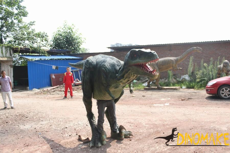 realistic dinosaur costume of Artificial hand operated