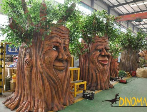 Animatronic Talking Tree Made by Dinosaur Manufacturing Factory