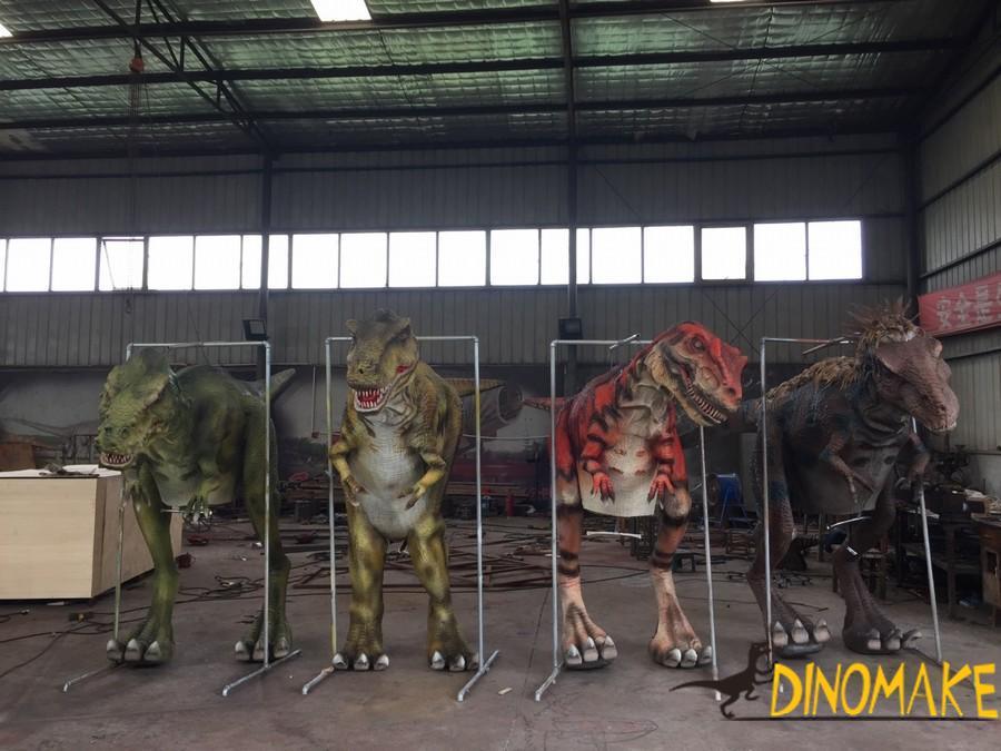 Adult Dinosaur Walking with Spinosaurus Costume