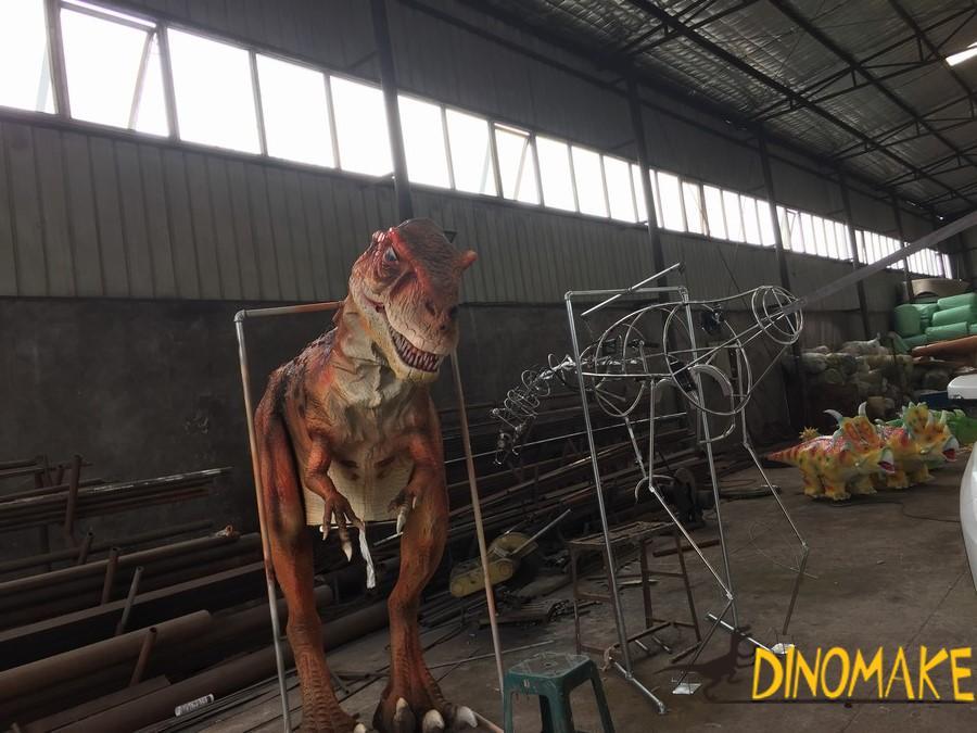 Adult Walking T-rex Dinosaur with Spinosaurus Costume