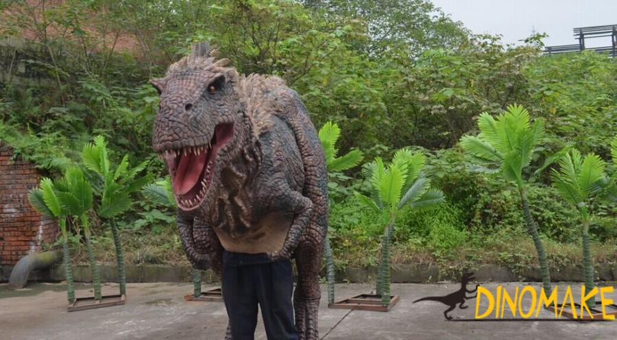 Adult puppet realistic Animatronic dinosaur costumes for sale