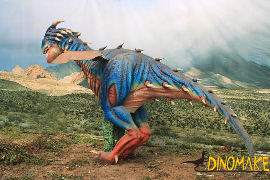 Adult walking T-Rex dinosaur costume interactive