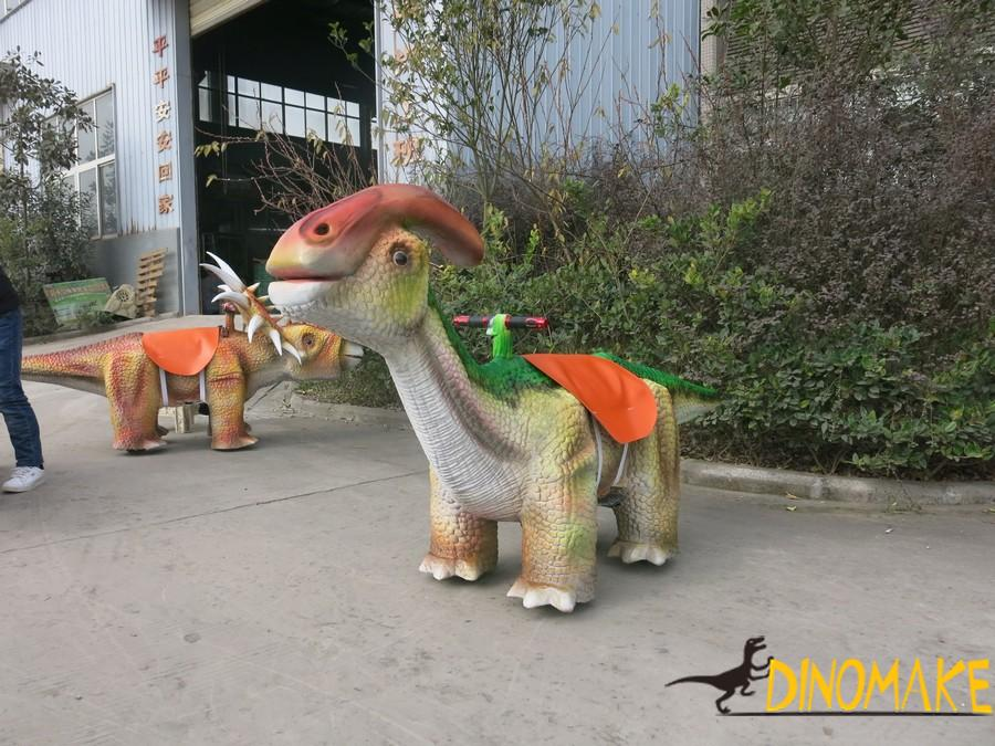 Amusement facilities coin-operated Animatronic dinosaur Car