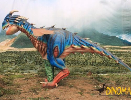 Amusement park animatronic walking dinosaur Costume