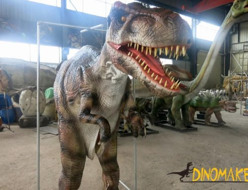 Funny Amusement Park Animatronic Dinosaur Costume For Kiddie