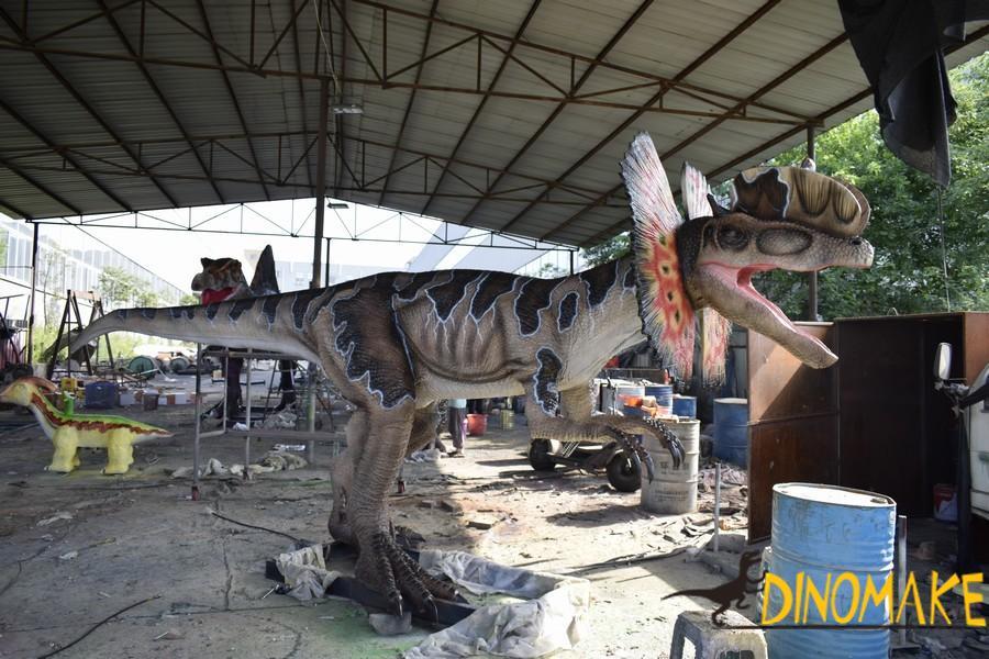 Animatronic Dinosaur Model in Theme Park