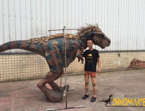 Animatronic Dinosaur costume walking realistic suits operated by one adults
