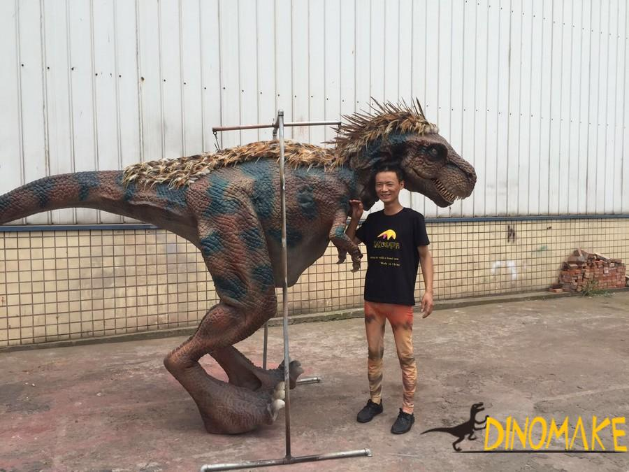 Animatronic Dinosaur costume realistic suits operated by one adults