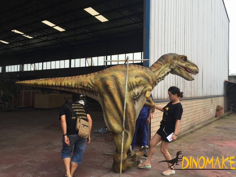 Animatronic Dinosaur costume walking realistic suits operated