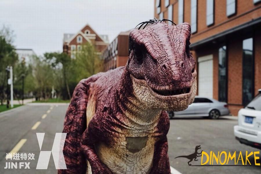 Animatronic Dinosaur costume with t-rex dinosaur walking props