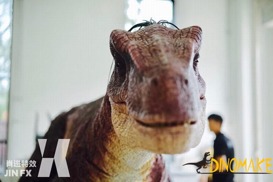 Animatronic Dinosaur costumes with t-rex dinosaur walking props