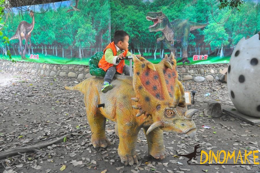 Animatronic Dinosaur rides model car of Children