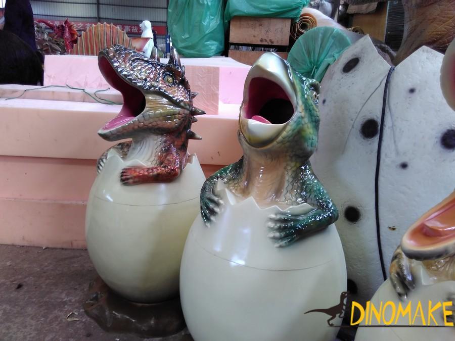Animatronic Dinosaur trash can