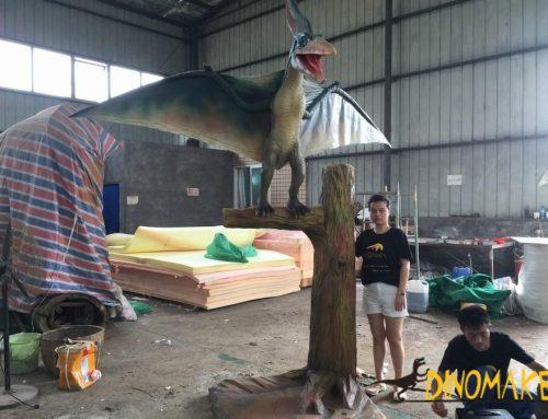 Life-size Animatronic Pterosaur flying Dinosaur models