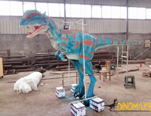 With Walking Animatronic Realistic Dinosaur Costume of Double crown dragon