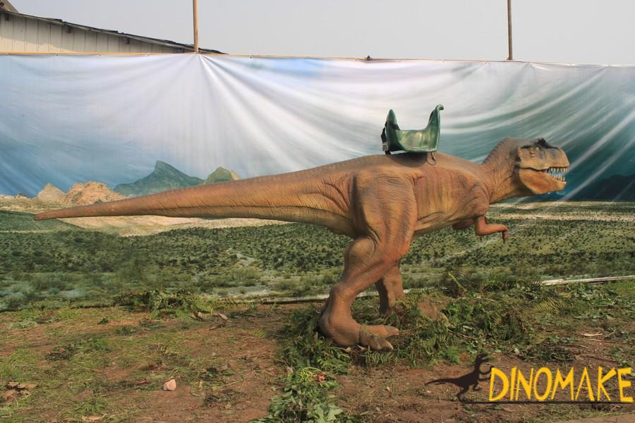 Animatronic Triceratops costume walking in four legs