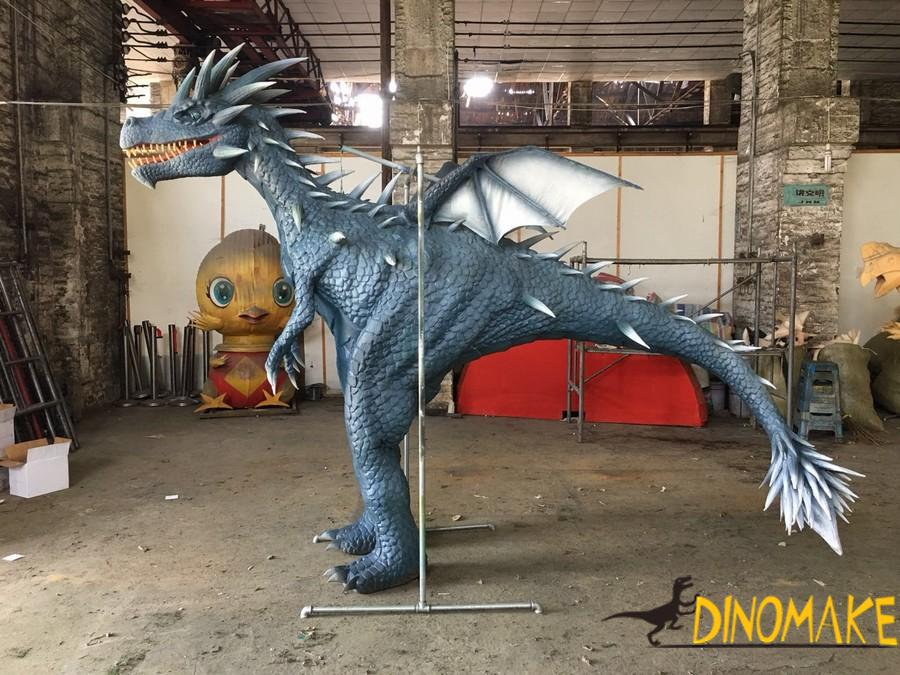 Animatronic costume walking with dragon suit