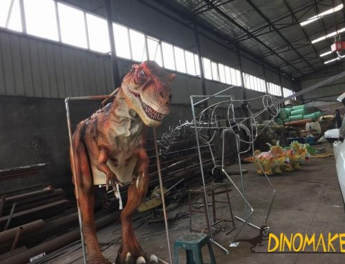Animatronic dinosaur Costume robots packing and delivering to the USA