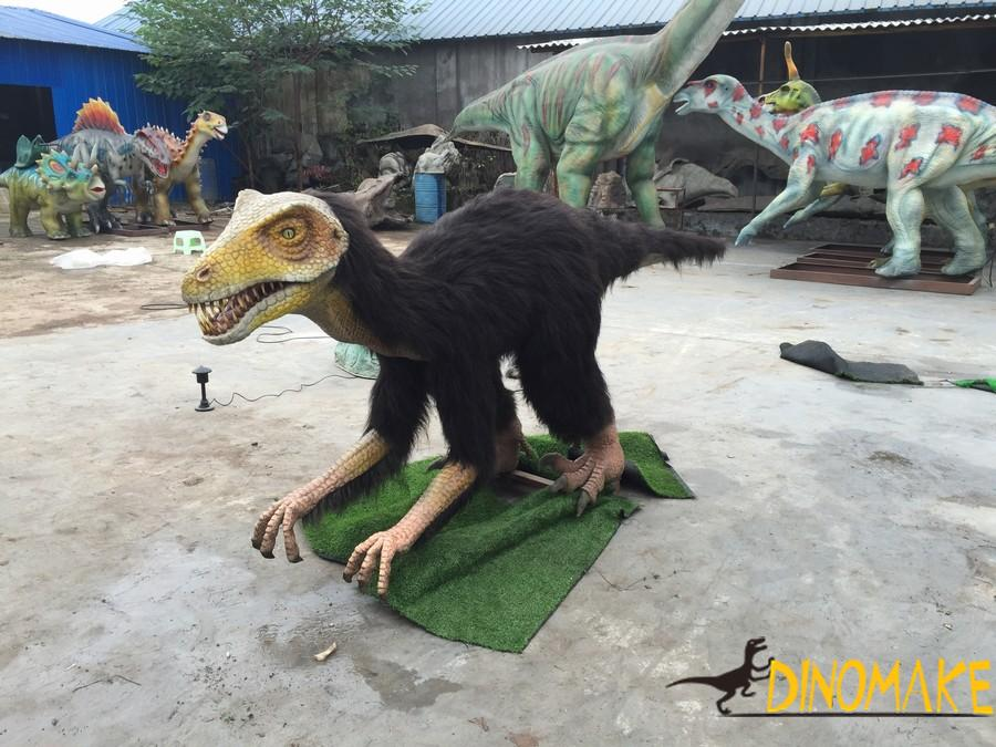 Animatronic dinosaur Produc Dromaeosaurus in the China