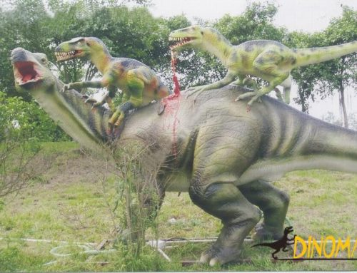 Animatronic dinosaur for amusement equipment