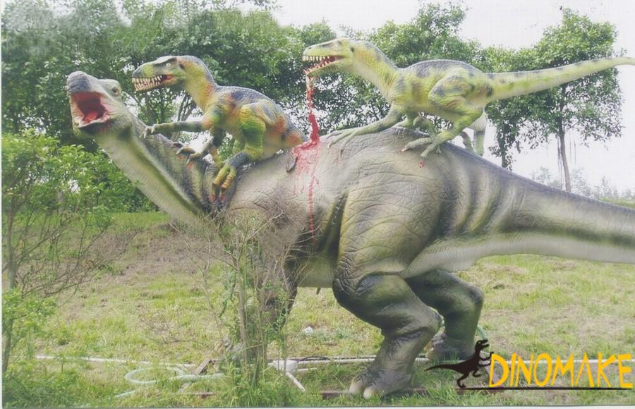 Animatronic dinosaur brontosaurus for amusement equipment
