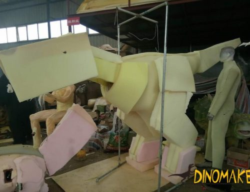 German Animatronic dinosaur costume completed