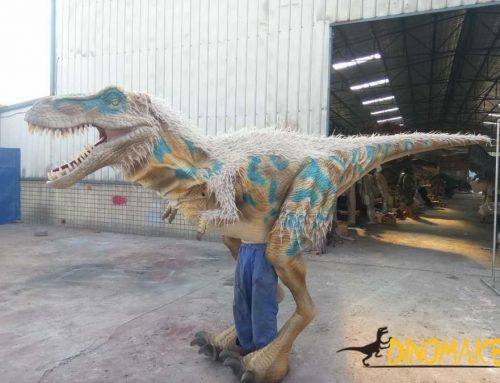 The fifth-generation Animatronic dinosaur costume is completed