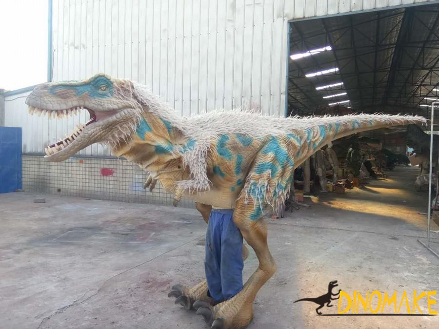Animatronic dinosaur costume is completed