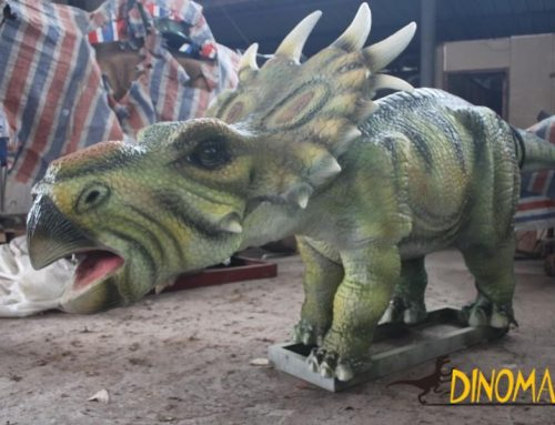 Realistic animatronic dinosaur model for theme park