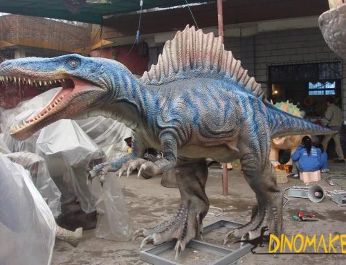 Animatronic dinosaur production in Company