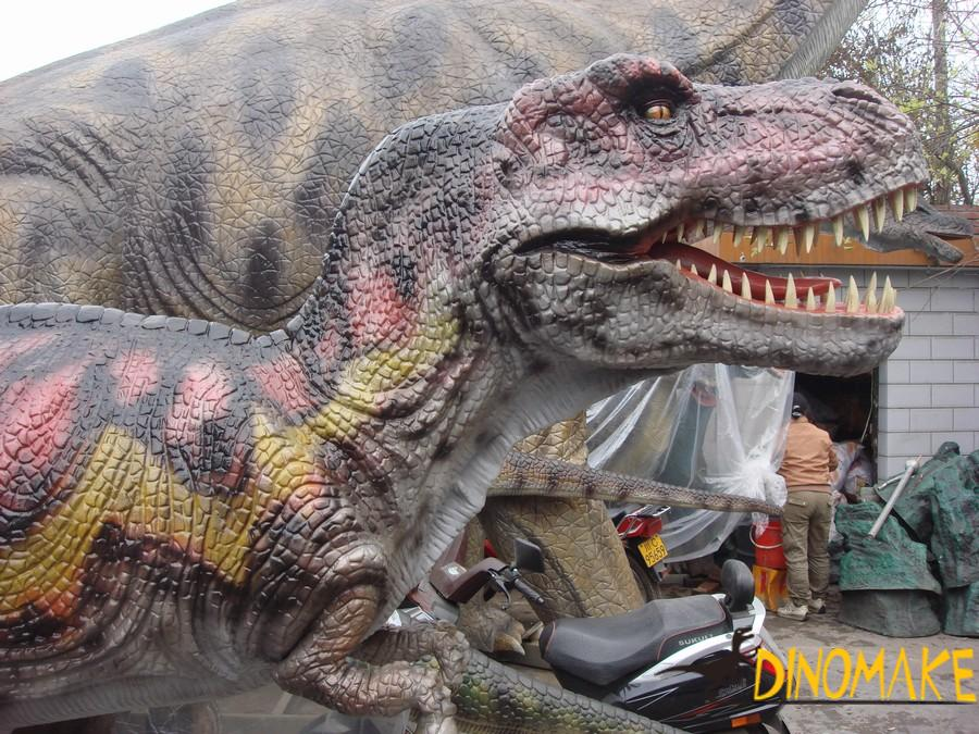 Animatronic dinosaur production in the Company