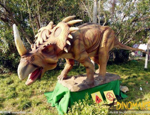 Outdoor playground handmade Animatronic dinosaur stegosaurus