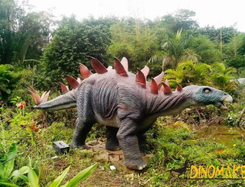 For dinosaur exhibition live-action Animatronic dinosaur stegosaurus