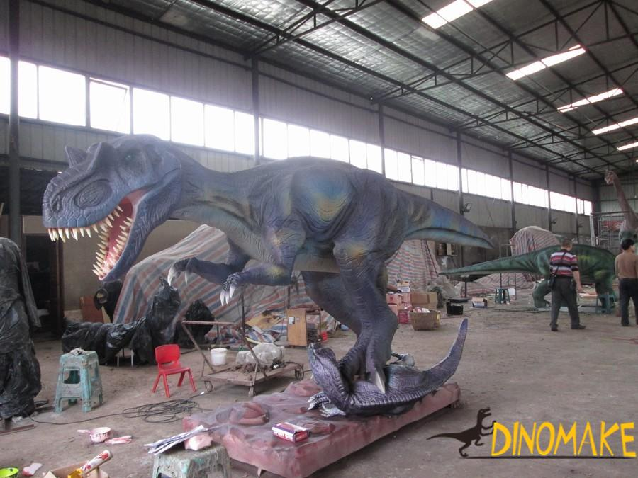 Animatronic dinosaurs for amusement equipment