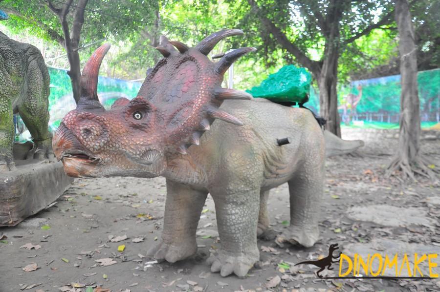 Children amusement park Animatronic dinosaur ride