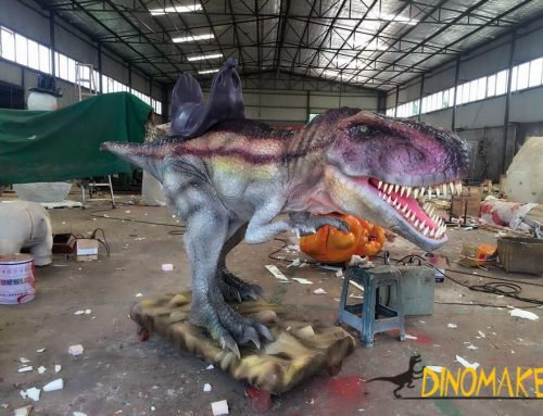 Children handmade coin Animatronic dinosaur ride