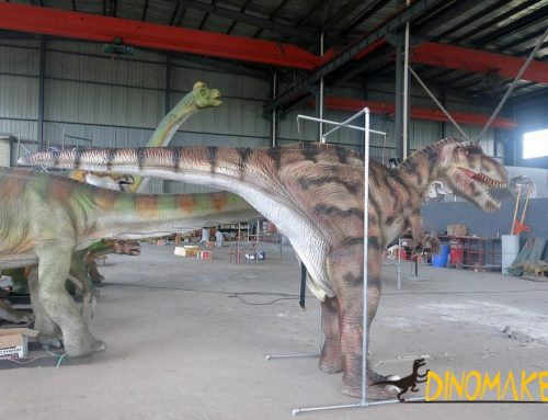 Customized Animatronic dinosaur costume, realistic and lifelike creatures.