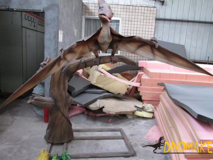 Dinosaur park high Animatronic dinosaur pterodactyl