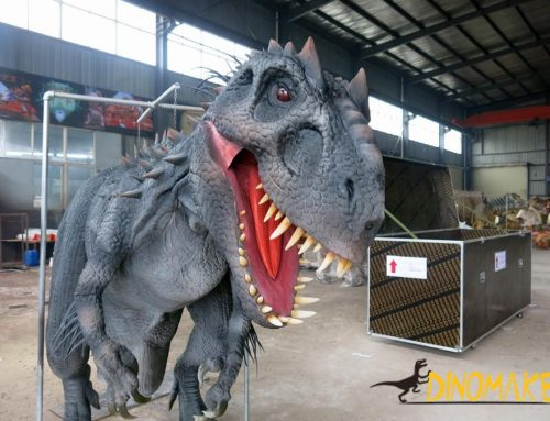 Dozens of steel frames for animatronic dinosaur costumes in Our Company