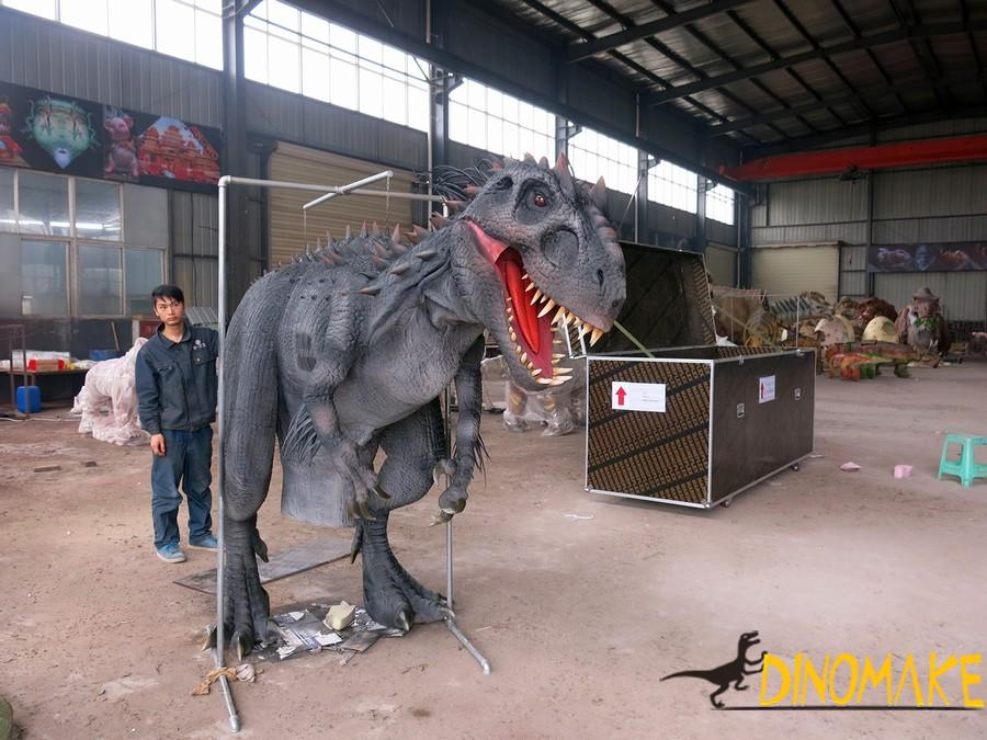 Dozens of steel frames for animatronic dinosaur costumes in Company