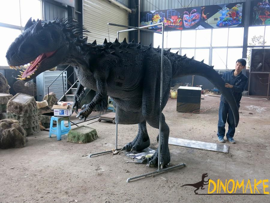 Dozens of steel frames for animatronic dinosaur costumes