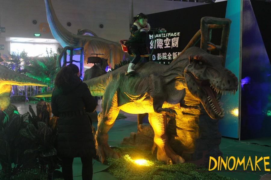 Entertainment game walking Animatronic dinosaur ride for sale