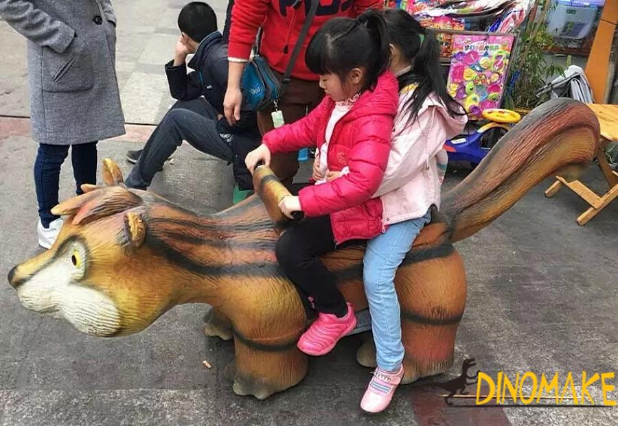 Entertainment game walking Animatronic dinosaur rides for sale