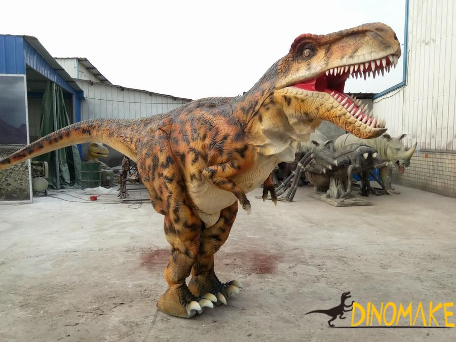 Factory produced a set of real animatronic dinosaur costume for sale