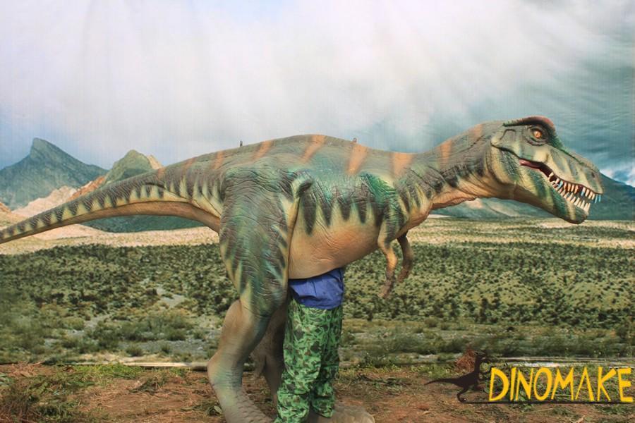 Funny Amusement Park Animatronic Dinosaur Costume For Kiddie